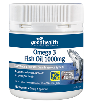 Omega 3 fish oil 1000mg good health for Fish oil good for